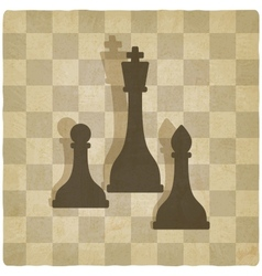sport chess logo old background vector image