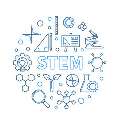 stem concept creative outline round vector image