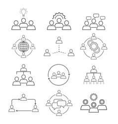 team work bussiness icons vector image