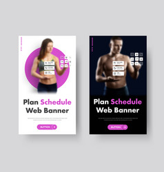 template vertical web banners with place vector image