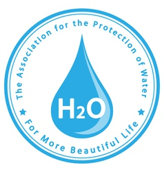 The association for protection water vector