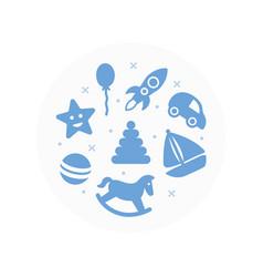 toys logo flat icons set vector image