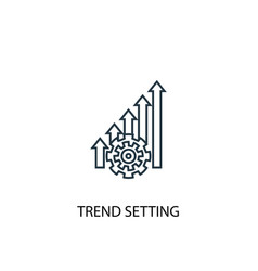 trend setting concept line icon simple element vector image