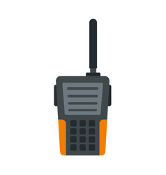 Walkie talkie icon flat style vector