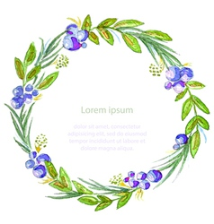 Watercolor floral invitation card vector