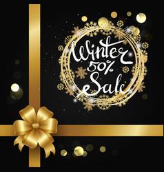 Winter sale 50 elegant poster vector