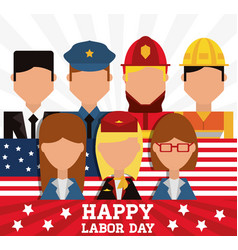 Worker celebrating happy labor day vector