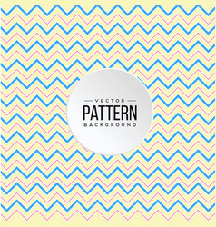 zigzag pattern blue pink yellow line background ve vector image