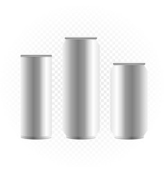 can of drink template vector image
