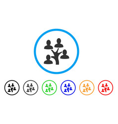 genealogy tree rounded icon vector image