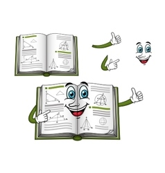 Geometry happy textbook cartoon character vector image vector image
