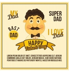 Greeting Card Dad vector image