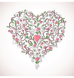 Heart-shaped ornament vector image vector image