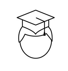 man with graduation cap icon vector image vector image