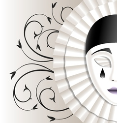 mask with teardrop vector image vector image