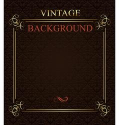 Vintage background with golden frame vector image