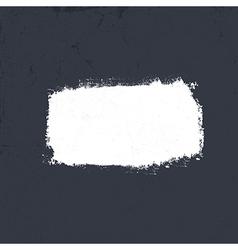 White grunge label on dark textured background EP vector image