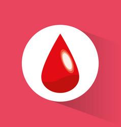 blood drop donate symbol vector image