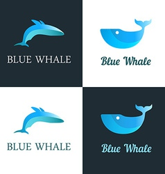 Blue Whale Logo vector image vector image