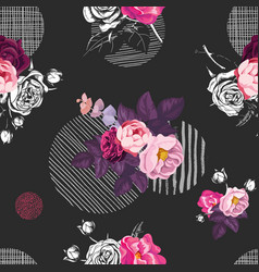 floral seamless pattern with bunches of wild rose vector image vector image