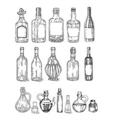 glass jars and bottles sketch vector image