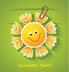 Greeting card with sun vector image