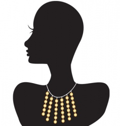 necklace silhouette vector image vector image