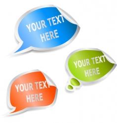set of speech bubble stickers vector image vector image