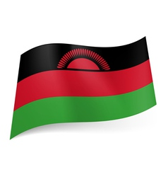 State flag of Malawi vector image vector image