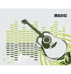 concert poster with guitar vector image vector image