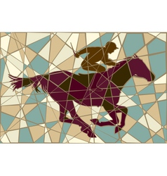 Racing horse mosaic vector image vector image