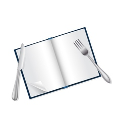 reading and food concept vector image vector image