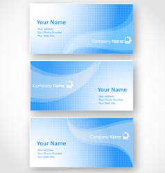 set of templates for business cards vector image vector image
