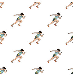 the girl is engaged in athleticsthe olympics in vector image