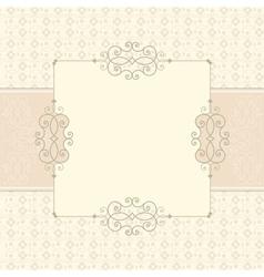 vintage card vector image vector image