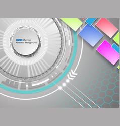 abstract white circles 2 vector image