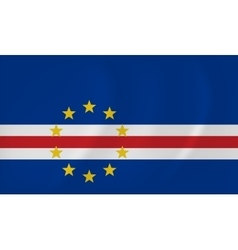 Cape verde waving flag vector