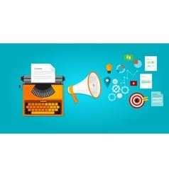 content marketing seo optimization online blog vector image vector image