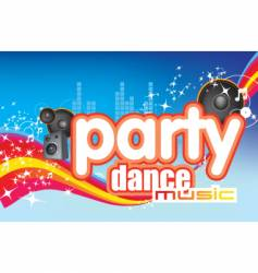 dance music vector image