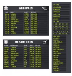 flight information set 1 delayed vector image