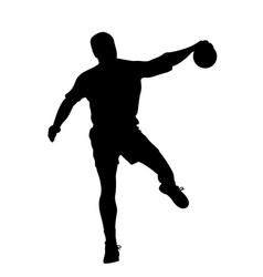 male handball player vector image vector image