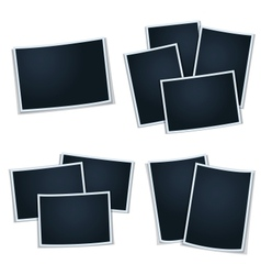 Set of photos frames for your picture vector image