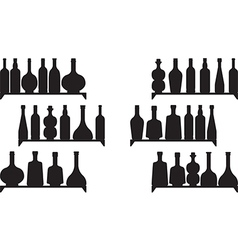 Shelves with booze vector image vector image