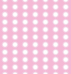 Snow flakes on pink background pattern vector image vector image