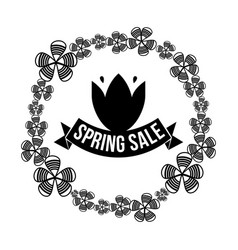 spring sale and lab vector image vector image