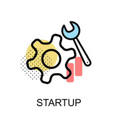 startup graphic icon vector image