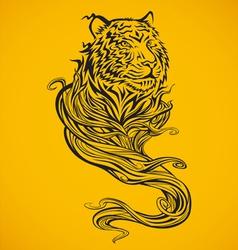 Tiger Spirit Dark vector image vector image