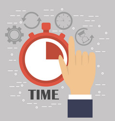 time clock chronometer business service icon vector image vector image