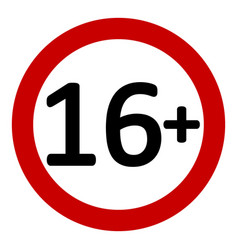 12 age restriction sign vector