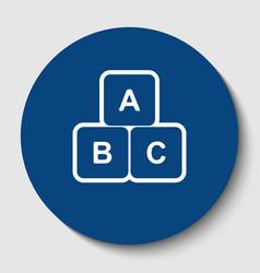 abc cube sign white contour vector image